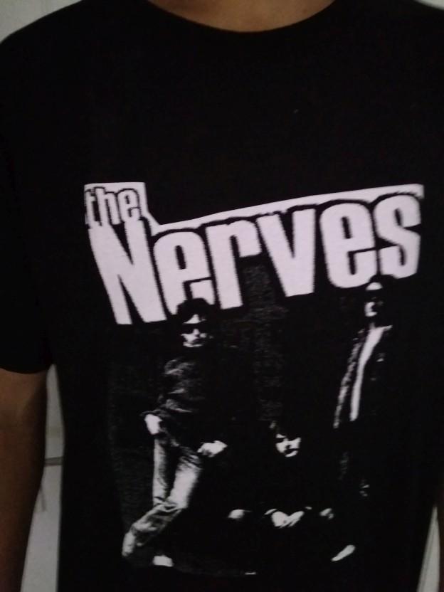THE NERVES - Camiseta negra hombre